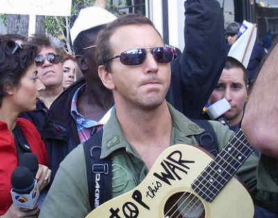 Eddie Vedder. antiwar protest. LA.