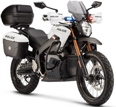 zero electric motorcycle police vrsion