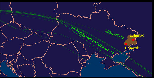 Flight-MH-17-path